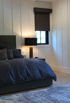 Custom Blackout Blinds, Rinconada Bedroom